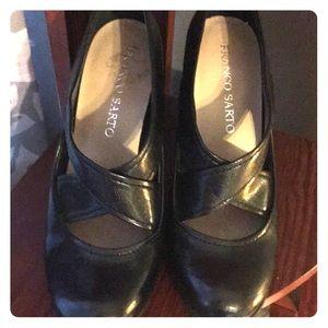 Franco Sarto Black Heels Size 7
